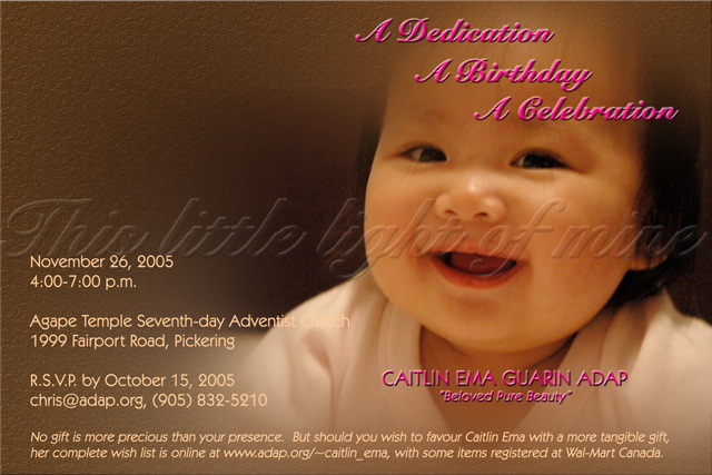 Invitation Message For Child Dedication Best Custom Invitation